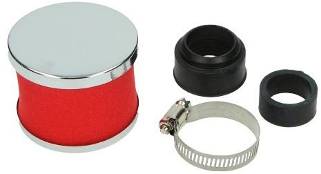 powerfilter scooter rood / chroom recht foam maat 30-35mm