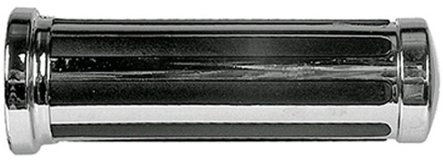 Handvat Set Chroom / Zwart (Streep) Scooter / Schakelbrommer