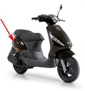 zijscherm piaggio zip2000 / zip2000 sp zwart lucido 94 origineel 5754065090