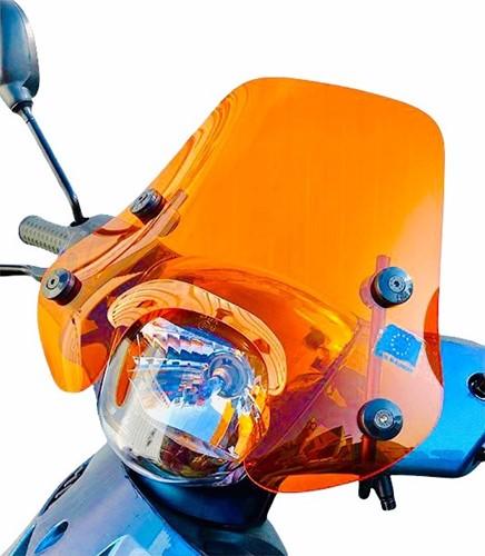 Windscherm Laag Fluor Oranje Piaggio Zip 2000 + Bevestigingset