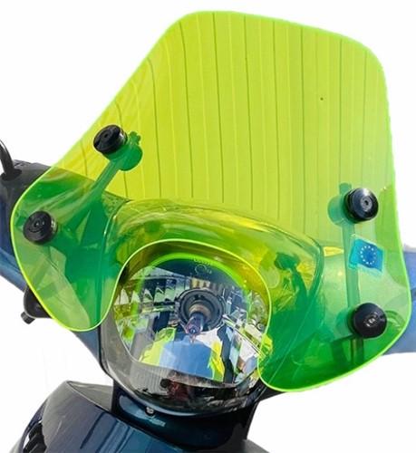 Windscherm Laag Fluor Groen Piaggio Zip 2000 + Bevestigingset