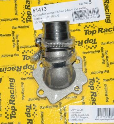 spruitstuk 24mm minarelli horizontaal model top-racing