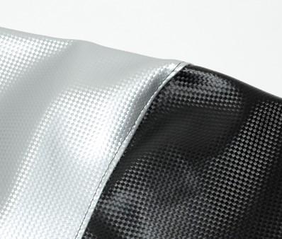 zadeldek zwart/zilver peugeot speedfight 1&2