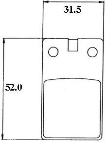remblok malaguti F12 oud-model / zundapp