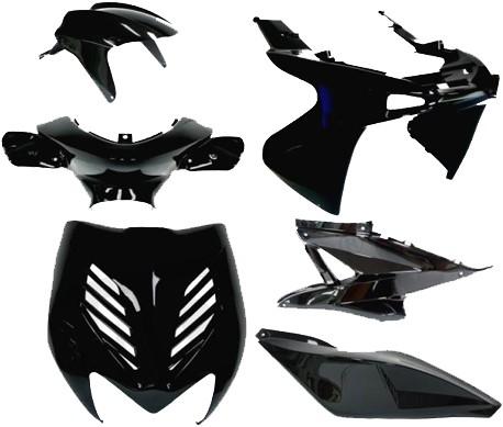 Kappenset Zwart Metalic (7 Delig) Yamaha Aerox T/m 2012