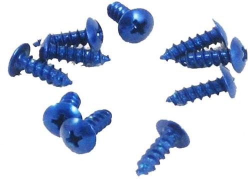 parkerset beplating maat 4x12mm 10 sets blauw