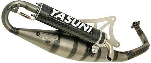 Uitlaat Yasuni R Carbon (Black Edition) Piaggio Zip 2000 2t / Vespa Lx 50 2t / Piaggio Fly 2t / Piaggio Typhoon / Gilera Runner / Gilera Dna / Gilera Ice / Piaggio Nrg / Liberty 2t / Vespa Sfera / Pia