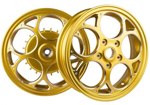 Velgen Set Vespa Sprint / Vespa Primavera Gold / Chrome Edition